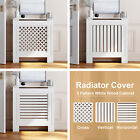 Radiator Cover 3 Pattern Modern Mdf White Wood Cabinet Grille Furniture Decor