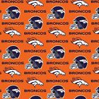 Denver Broncos Fabric by the Yard, by the Half Yard, Large Print, NFL Cotton Fab $9.95 USD on eBay