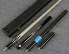 """Grand-Cues"" 58"" 3/4 Jointed Ash Shaft Black Ebony Handmade Snooker Cue Set@YP16"