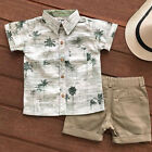 US Casual Toddler Kids Baby Boy Clothes Outfits Sets Short Sleeve T Shirt +Pants