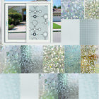 3D Static Cling Cover Frosted Window Glass Film Sticker Privacy Home DIY Decor