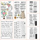 Внешний вид - Months Planner Love Air Bear Transparent Clear Silicone Stamp/Seal scrapbooking
