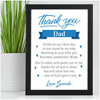 PERSONALISED Father of the Bride Gifts Wedding Thank You Gifts for Dad Daddy