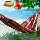 Portable Garden Hammock Perfect for Camping Outdoors Travel Stripe Fabric Bed