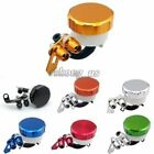 Aluminum Brake/Clutch Oil Cup Cylinder Fluid Reservoir Universal for Motorcycle $12.99 USD on eBay