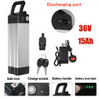 36V 10Ah 15Ah 17Ah E-bike Electric Bicycle Li-ion Battery Lockable 2A Charger UK