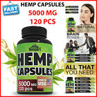 Hemp Capsules 5000mg Pain Relief Anxiety Best Joint Support your Health Sleep $16.11 USD on eBay