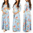 Pregnant Womens Long Maxi Dress Sequins Maternity Gown Dress Photography Props