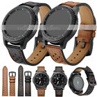 US Universal Retro Genuine Leather Wrist Watch Band Strap Quick Release 20 22mm image