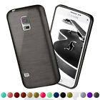 Silicone Case for Samsung Galaxy S5/S5 Neo Brushed Steel Aluminum Look Cases for sale  Shipping to Canada