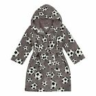 Bluezoo Kids Boys' Grey Football Print Dressing Gown