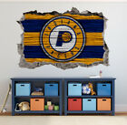 Indiana Pacers Wall Art Decal 3D Smashed Basketball NBA Wall Decor WL199 on eBay