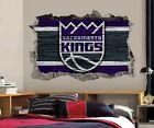 Sacramento Kings Wall Art Decal 3D Smashed Basketball NBA Wall Decor WL204 on eBay