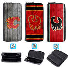 Calgary Flames Leather Long Women Wallet Clutch Purse Zip Around $15.99 USD on eBay