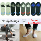 GK Men Summer Invisible Nonslip Loafer No Show Argyle Cotton Low Cut Boat Socks