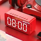 Portable Bluetooth Speaker Wireless Stereo Support TF AUX Mirror Alarm Clock