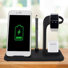 Portable 3 in 1 Wireless Charger Dock Station USB for Aple Watch Airpods iPhone