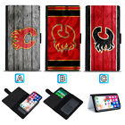 Calgary Flames Sliding Leather Case For iPhone 6 7 8 Plus X Xs Xr Max $8.49 USD on eBay