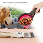 1pcs Collapsible Pet Cat Animal Dog Food Scoop Silicone Foldable Measuring Cup