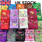 Chinese Silk Stain Embroidered Jewelry Roll Bag Pouch Travel Makeup Bag Case Uk