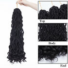 """20"""" Long Faux Locs Dreadlocks Wavy Curly As Human Braids Ombre Hair Extensions T"""