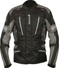 Buffalo Cyclone Mens Black / Grey Waterproof Textile Motorcycle Jacket NEW