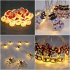 Snowman Led String Fairy Lights Battery Wedding Party Home Christmas Decoration