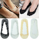 3-12 Pairs Womens Full Lace No Show Nonslip Liner Invisible Boat Socks Loafer