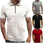 Men's Slim Fit Polo Shirt Short Sleeve Casual Summer Golf Sport T-Shirt Tops Tee image