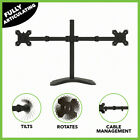 Dual Monitor Mount Fully Adjustable Desk Free Stand for 2 LCD Screens up to 27""