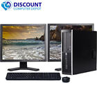 Dell or Hp Desktop PC Computer Core 2 Duo 500GB 4GB DUAL 19' LCD WiFi Windows 10