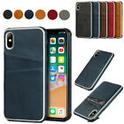 Cowhide Texture Card Slot Leather Case Cover Card Holder For Apple Iphone Xs 7 8