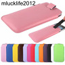 #2 PU Leather PULL Cord TAB Pouch Bag Cover Case Sleeve Holster For cellphone