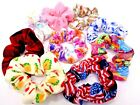 Handmade Flannel Scrunchies Hair Ties Band Holder ~9 Styles to Choose From!