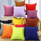 US Stock Plain Solid Throw Home Decor Pillow Case Bed Sofa Waist Cushion Cover image