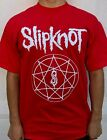 SLIPKNOT LOGO BLACK METAL RED T SHIRT  image
