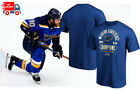 St. Louis Blues Royal 2019 Western Conference Champions T-Shirt NHL Cotton Tee $10.99 USD on eBay
