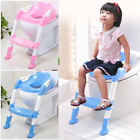 Toddler Baby Toilet Seat Training Ladder Potty Step Trainer Chair Safety Stool image