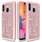 For Samsung Galaxy A10e A20 Case Shockproof Armor Luxury Glitter Bling TPU Cover