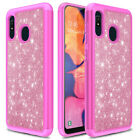 For Samsung Galaxy A10e A20 Case Shockproof Hybrid Luxury Glitter Bling Cover