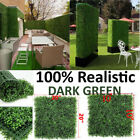 "10""x10"" 20""x20"" Artificial UV Boxwood Mat Wall Hedge with Ties Fake Grass Fence"