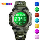 Kids Sports Digital Watch LED Camouflage Waterproof Watches Gift Child Boys Girl image