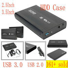 "USB 3.0 SATA 2.5 / 3.5"" SDD/HDD Hard Drive External Mobile Disk Case Adapter Box"