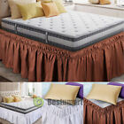 Bed Dust Ruffle Skirt Twin Full Queen King Size Elastic Wrap Around Easy Fit New image