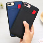 For Iphone Xs 11 Max Xr 7 8 Plus Pu Leather Credit Id Card Slots Back Cover Case