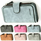 US Women Ladies Long Leather Trifold Card Wallet Clutch Checkbook Purse Handbag image