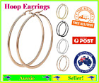 1 Pair Stainless Steel Round Smooth 5cm Hoop Hoops Earrings 4 Colours Available