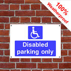 Disabled parking only hotel safety sign HOT02 durable and weatherproof