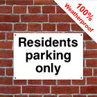Residents parking only hotel safety sign HOT03 durable and weatherproof