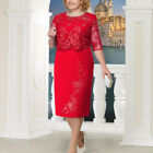 Plus Size Lace Wedding Mother Of The Bride Dress Evening Formal Party Gown